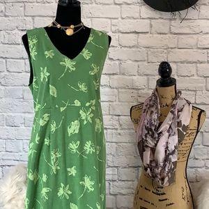 Fresh Produce green maxi dress size medium